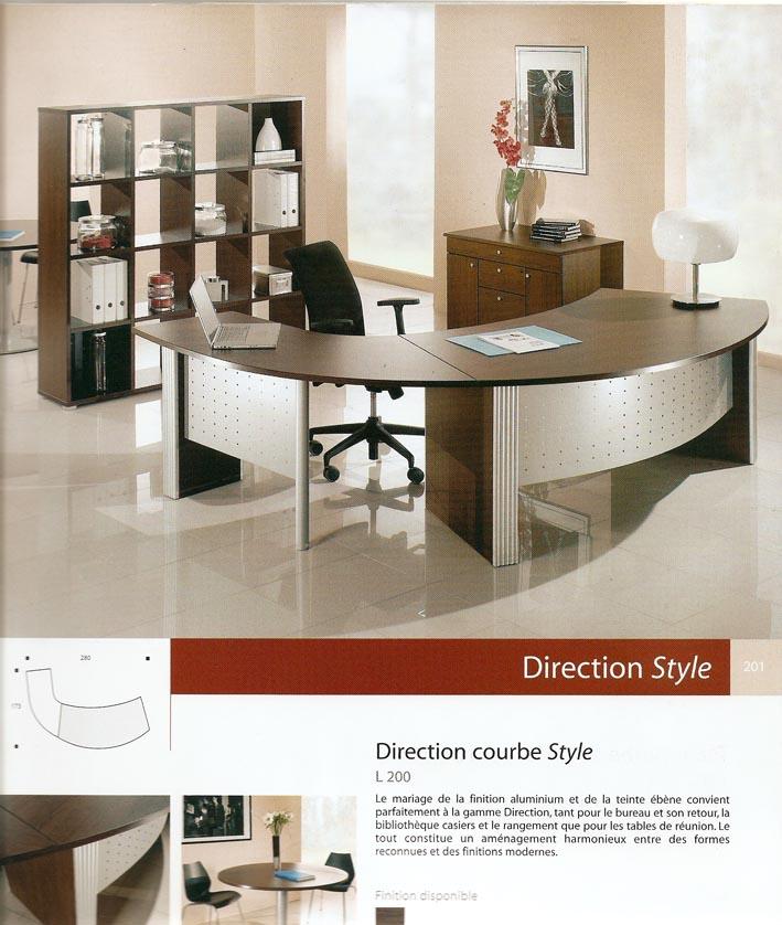 Bureau gamme direction style en wenge bureau tahiti for Mobilier bureau wenge