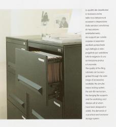 Classeur métal Noir à tiroirs pour dossier suspendu